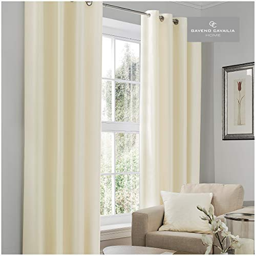 T & A textitles Negro out 66cm x 72cm Cortinas, Crema