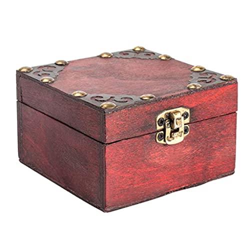Joocyee - Caja de Almacenamiento de Joyas Vintage de Madera, Cofre del...