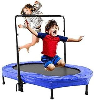 Binxin Mini Rebounder Trampoline Indoor/Outdoor with Adjustable Handle for Two Kids, Parent-Child Twins Trampolines (US Stock)