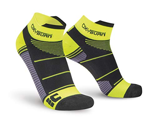 Oxyburn Run Evospeed Light-Short-Cut XL Chaussettes Homme, Black/Vision, Size 45/47