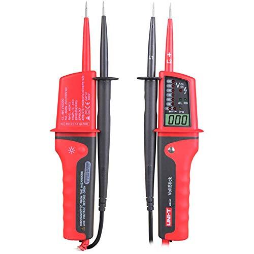 TRUUA Spannung Tester LED-LCD-Display-Continuity-Detektor Pen Meter Tester Uni-T UT15C 2 Pol Multi-Funktions-Wasserdicht Typ Spannungsprüfer
