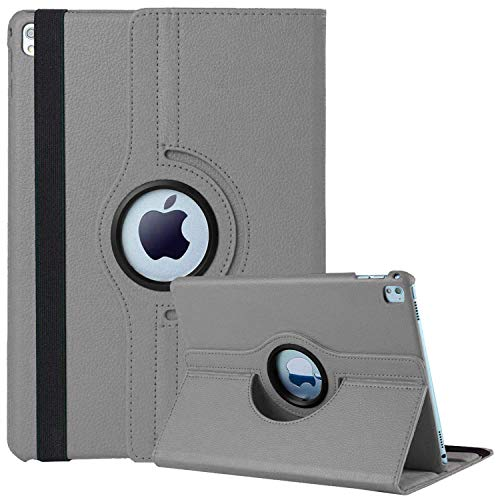 FSPRO Apple iPad 10.2 inch case for iPad 8th Generation 2020 / iPad 7th Generation 2019, iPad 7 7th Gen iPad 8 8th gen case 360 Degree Rotating Smart Protective Stand Cover, Auto Sleep/Wake (Gray)