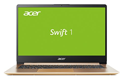 Acer Swift 1 (SF114-32-P2QF) 35,6 cm (14 Zoll Full-HD IPS matt) Ultrabook (Intel Pentium N5000, 8 GB RAM, 256 GB SSD, Intel UHD, Win 10) gold