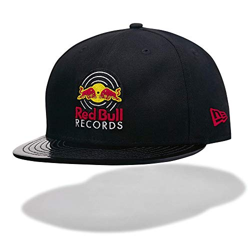 Red Bull Records New Era 9Fifty Vinyl Snapback Flatcap, Schwarz Unisex One Size Cap flaches Schild, Records Original Bekleidung & Merchandise