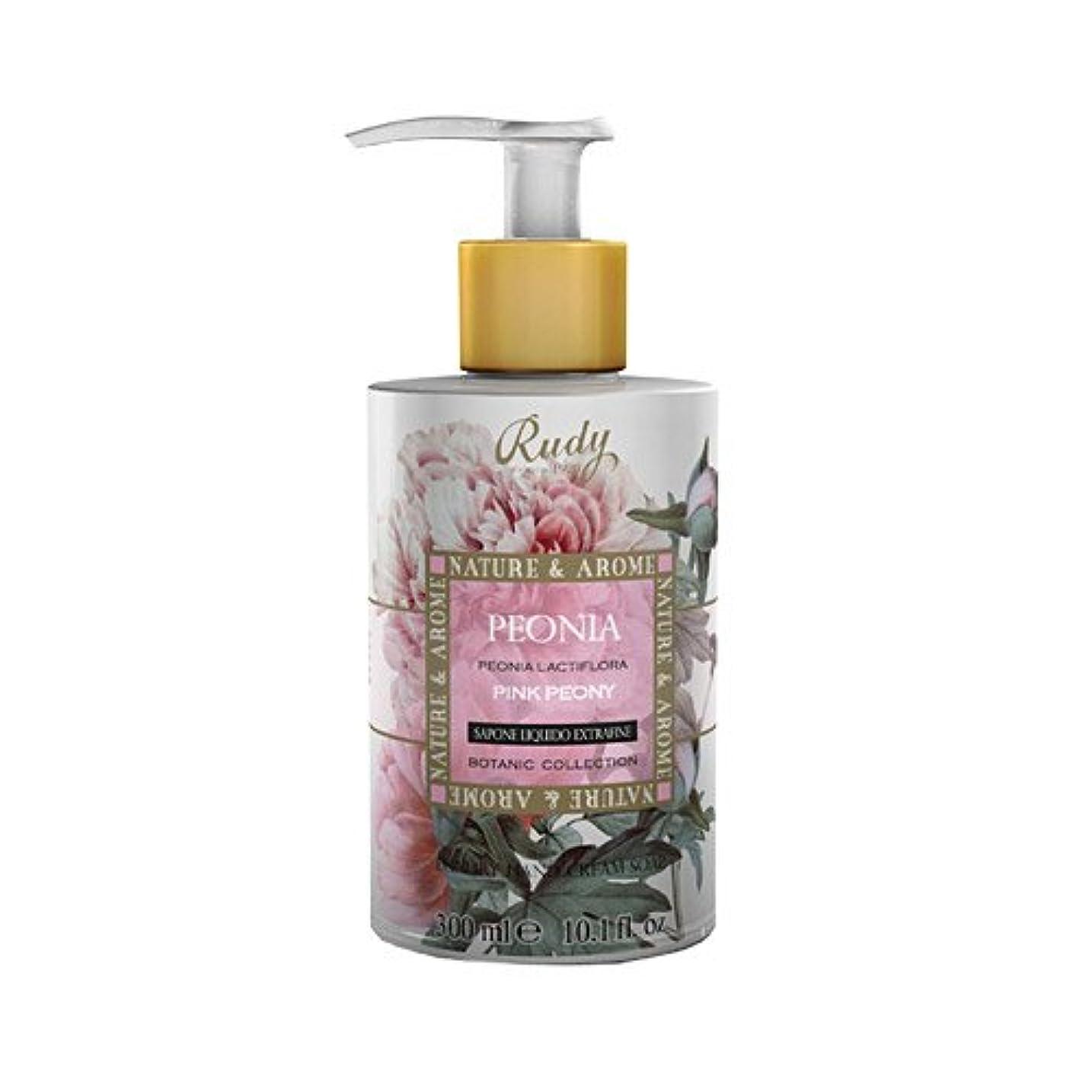 決定的スペイン語貫通するRUDY Nature&Arome SERIES ルディ ナチュール&アロマ Liquid Soap リキッドソープ ピンクピオニー