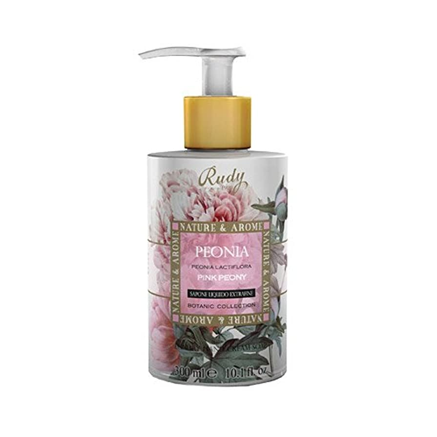 用語集スマイル検出可能RUDY Nature&Arome SERIES ルディ ナチュール&アロマ Liquid Soap リキッドソープ ピンクピオニー