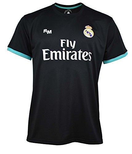 Real Madrid Ronaldo - Camiseta de fútbol para Hombre, Talla L, Color Negro