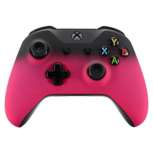 eXtremeRate Carcasa para Mando Xbox One S/X Accesorios Protectora Suave al Tacto Placa Frontal Funda Delantera Kit de reemplazo Cubierta Shell para Controlador de Xbox One S/X(Model 1708) Sombra Rosa