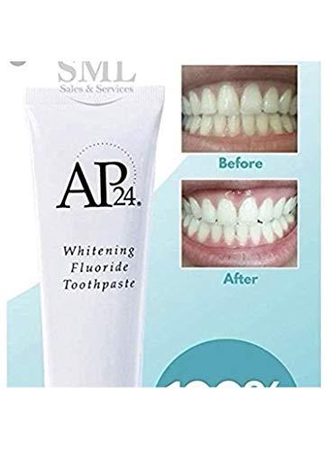 3 x AP-24 Whitening Fluoride pasta de dientes • Crema dental blanqueadora con fluoruro • Blanqueamiento dental • Para dientes blancos (3)