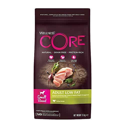 Wellness CORE Small Breed Healthy Weight/Low Fat,Hundefutter trocken für kleine Rassen, getreidefrei, hoher Fleischanteil, reduzierter Fettgehalt, Pute - 1,5 kg