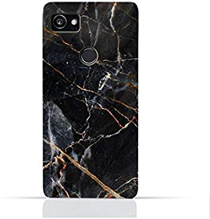 AMC Google Google Google Pixel 2 XL TPU Silicone Protective Case with Grey Marble texture Design