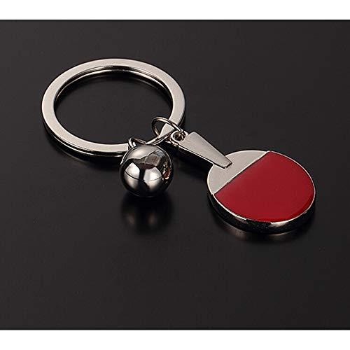 N/A Pingpong sleutelhanger metaal sleutelhanger sleutelring sporttas hanger sleutelring voor mannen vrouwen geschenk