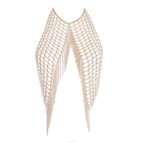 Körper Kette Halskette für Frauen Bikini Schmuck Badeanzüge Top BH Ketten Sommer Zubehör für Beach Party Schwimmbad