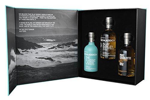 Bruichladdich Wee Laddie Geschenkpackung - Islay Single Malt Whisky (3 x 0.2 l)