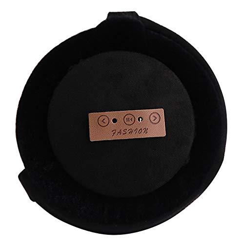 TYXQ Wireless Bluetooth Warm Earmuffs Auriculares Auriculares de Audio Plegables Ajustables de Música con Altavoz Mic Aire Libre