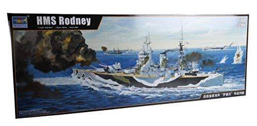 Trumpeter TRU03709 3709 - Modellbausatz HMS Rodney, grau