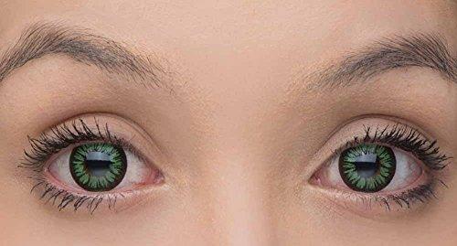 Eye Effect farbige Kontaktlinsen in vielen Farben für schöne natürliche Augen + gratis Kontaktlinsenbehälter (Grün)