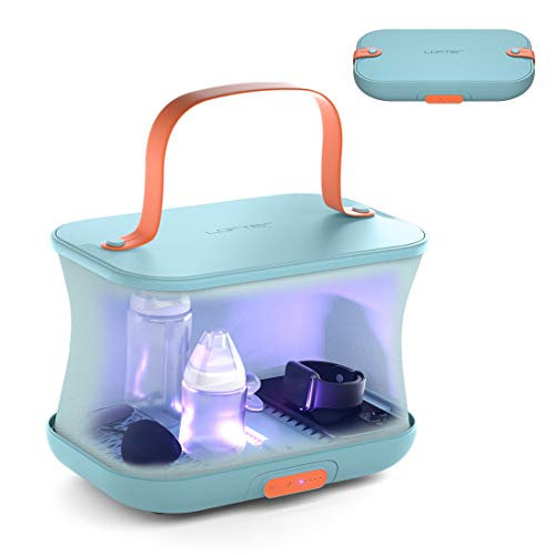 4 in 1 UV Light Sanitizer Bag, Foldable UV-C Cleaner Disinfection Dryer, Lofter Double Sterilization High Capacity Light Box, Detachable Travel UV Light Wand & Storage Box for Phone, Baby Bottle