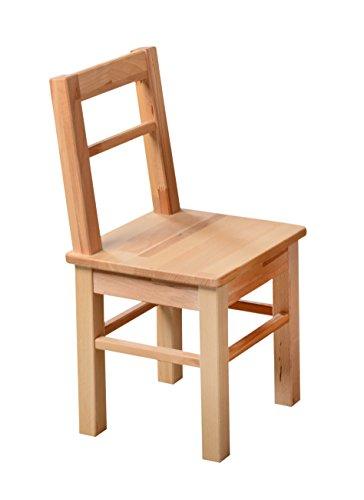 Kinderstuhl Kinderzimmer-Stuhl kernbuche massiv Holz geölt -2