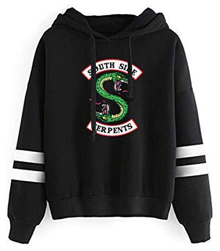 HUASON Riverdale Hombre Mujer Sudadera con Capucha Serpiente Logo Sweatshirt Unisex Pullover de Moda Deportiva Streetwear (L)