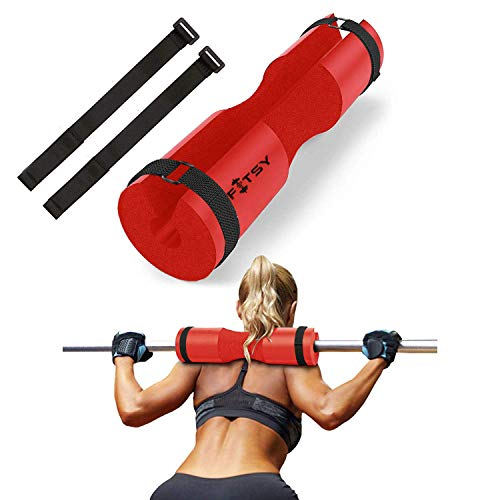 FITSY® Foam Barbell Squat Pad with Straps for Standard and Olympic Bar