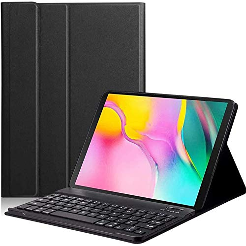 Keyboard Case for Samsung Galaxy Tab S5e 10.5 2019 Model SM-T720/T725, Slim Shell Lightweight Stand Cover with Detachable Wireless Bluetooth Keyboard,Russian version