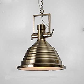 DULG Retro Pendant Light Industrial Lights and Country Dome/Bowl UFO Metal Bronze Shade Chandelier Ceiling Light for Loft Living Room Restaurant Cafe Bar Counter Hanging Lamp Hard Wiring Fixtures E27