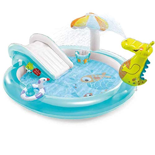 LKITYGF Rompecabezas Entretenimiento Infantil Piscina PiscinaFlatable PoolCocodile Slide Slide Spray Park Poolfamily Garden Agua al Aire Libre Toypump/Patch
