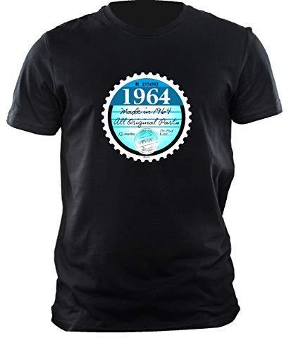 Sticker sticker grappig Neà 1964 retro nachthemd motief voor 55. verjaardag zwart heren
