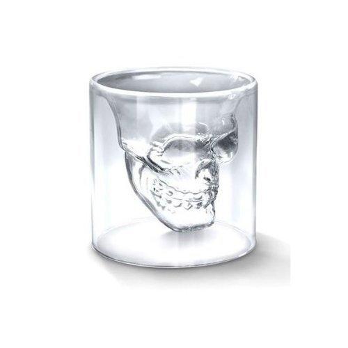 Aeromdale Skull Shot Glass Crystal Skull Pirate Shot Glass Cóctel Cerveza Copa