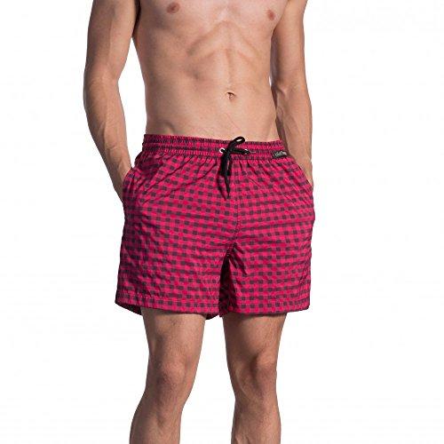 Olaf Benz - BLU1660 Shorts - Fb. check cassis - Gr. XL - limitierte Kollektion