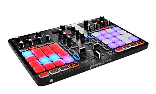 Hercules P32 DJ (2-deck DJ Controller, 32 performance pads, integr. Geluidskaart, DJUCED, PC / Mac).