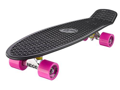 Ridge Skateboard Big Brother Nickel 69 cm Mini Cruiser, schwarz /rosa