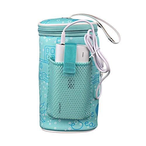 CSPone | USB Heizung Intelligente Warm Werkzeug für Outdoor Travel, Baby Flaschenwärmer Tasche Portable USB Heizung Muttermilchwärmer Tasche Isolierte Baby Bottle Bag zum Reisen
