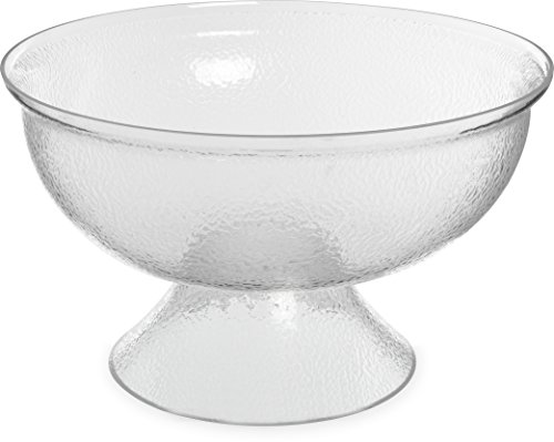 """Carlisle SP1807 Acrylic Pebbled Punch Bowl, 16-qt. Capacity, 17.75"""" Diameter x 10.63"""" Overall Height x 6.5"""" Depth, Clear"""
