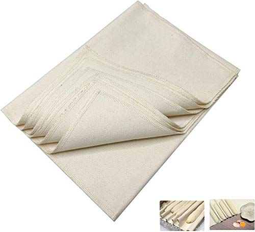 Bread Proofing Cloth, Two pieces(35' X 26' + 12'x17')bakers Couche Proofing Cloth for Bread Fermentation Stereotypes French stick baking cloth