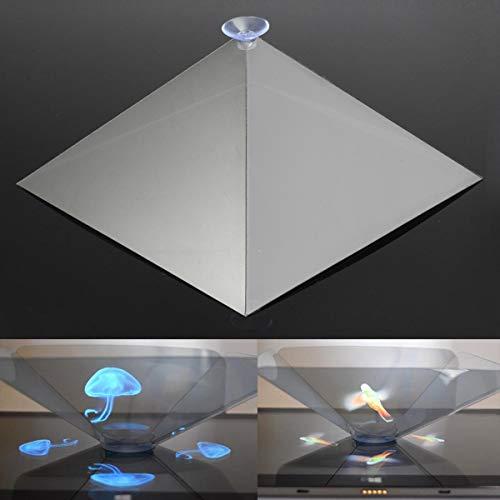 XiaoMall 3D holográfico holográfico exhibición pirámide soporte proyector regalos creativos para el teléfono de la tableta