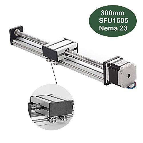 300 mm lineaire railschuif, DIY CNC-routeras voor X Y Z-as Lineaire stage-actuator Router Ballscrews SFU1605 met Nema23 57 stappenmotor (11,81 inch)