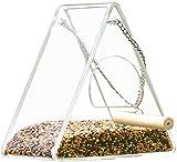SxLingerie Jaulas para Pajaros Comederos, Alimentador De Semillas Silvestres De Aves para La Mezcla De Semillas Mezclas Niger Seed Alimentador De Girasol Corazón Birdbath