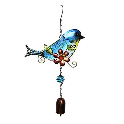HUBA Windspiele Vögelchen hängende Ornamente Aluminiumlegierungsrohre Glocke Äolische Windspiel für den Garten Balkon draußen hängend Metall Outdoor Yard Dekor (1 PC, A)