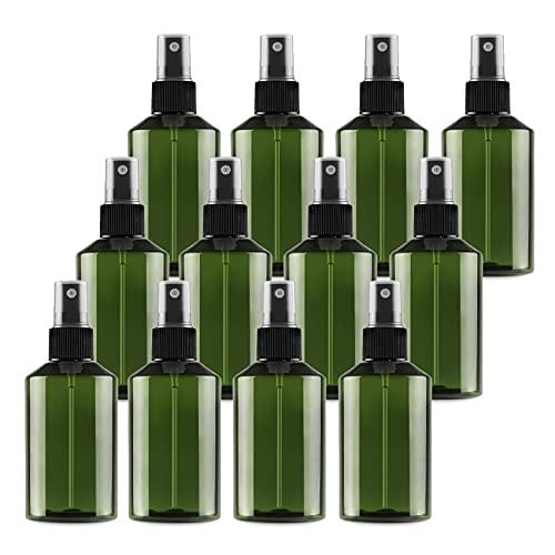 TIANZD 24 Piezas150 ml Botella de Spray Plástico Vacías Verdecon Bomba en Spray Negro de Niebla Fina Atomizador Pequeño para Perfume Viaje Artículos de Agua Cosmético Alcohol