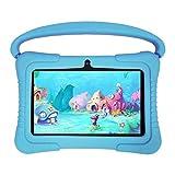 Q88 Tablet PC de 7 Pulgadas 1 + 16GB Máquina de Aprendizaje en línea para niños con Pantalla IPS (Azul UE de 7 Pulgadas)