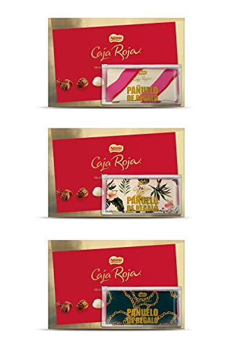 Caja Roja Bombones 400 g + Pañuelo regalo del Día de la Madre
