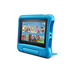 Save up to $89 on a full-featured Fire 7 Tablet (not a toy), 1 year of Amazon FreeTime Unlimited, a Kid-Proof Case with built-in stand, and 2-year worry-free guarantee, versus items purchased separately. 2-year worry-free guarantee: if it breaks, ret...