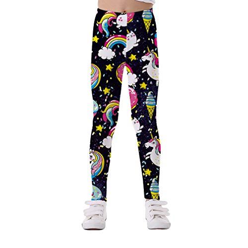 Yying Niñas Leggings Baby Niñas Leginsy Pantalones Niños Pantalones para Niñas Niños Legging Elasticidad Impresión Suave Transpirable