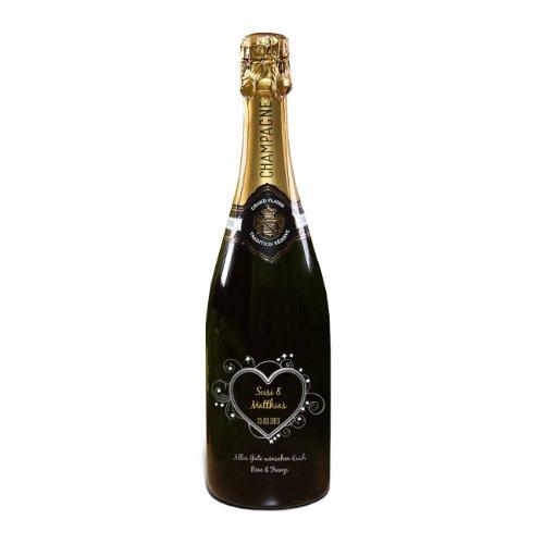 privat Sekt Champagner zur Hochzeit - mit Namen, Hochzeitsdatum & Text - MADE WITH SWAROVSKI® ELEMENTS - 750ml