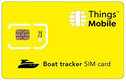 DATEN-SIM-Karte für GPS TRACKER für BOOTE - Things Mobile - mit weltweiter Netzabdeckung und Mehrfachanbieternetz GSM/2G/3G/4G. Ohne Fixkosten und ohne Verfallsdatum. 10 € Guthaben inklusive