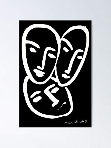 AZSTEEL Henri Matisse Apollinaire Rouveyre Trois Têtes A Lamp39amitié Three Heads 1952 Original Artwork Reproduction Tshirts Prints Posters Men Women Kids Poster