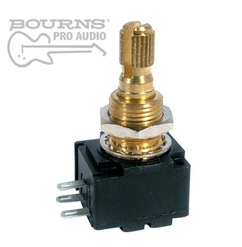 Bourns Model 95 Premium Guitar Potentiometer, 250K Audio, Knurled Split Shaft