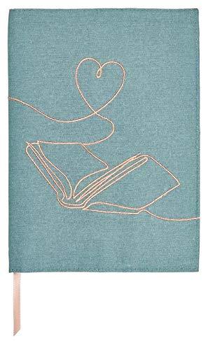 moses. Libri-x Protège-livre en coton avec ruban marque-page Motif One Line Art Taille S